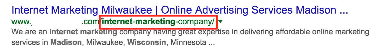 Wisconsin Internet Marketing Company URL