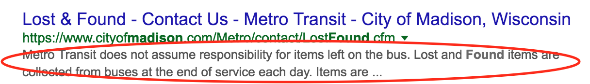 Madison Metro Transit SEO Meta description