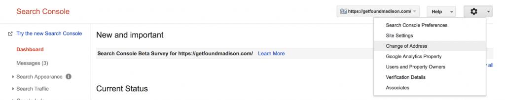 domain change