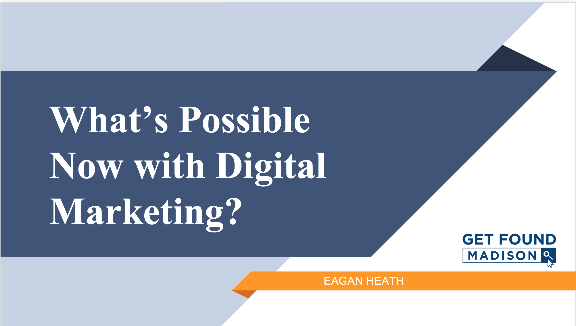What's possible now with digital marketing?